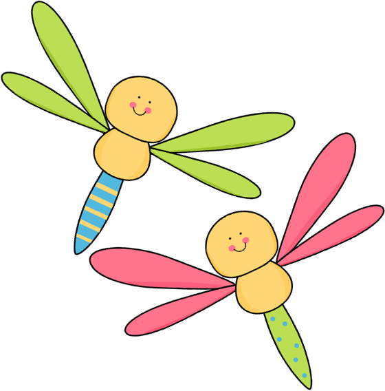 Two Dragonflies Clip Art - Two Dragonflies Image