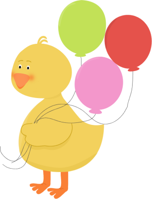Duck with Balloons