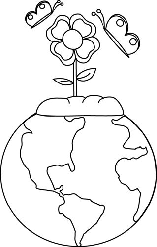 Black and White Earth and Nature