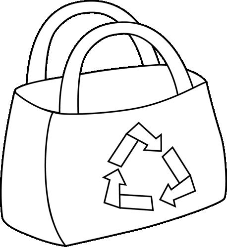 Black and White Eco Friendly Shopping Bag