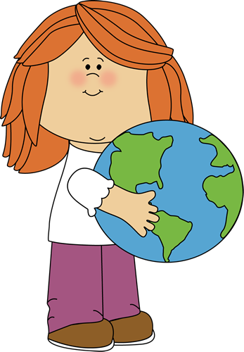 Girl Hugging Earth
