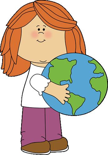 Girl Hugging Earth