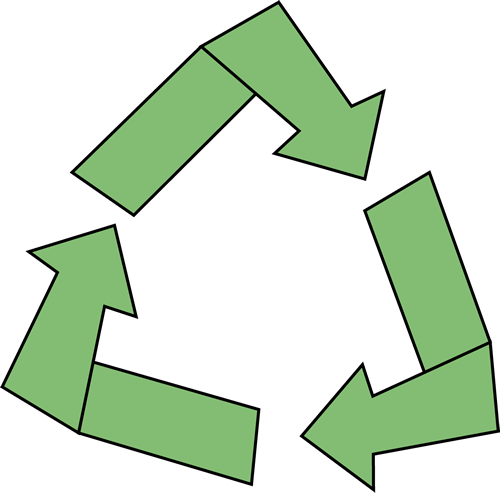 Recycle Symbol Clip Art Image - green recycle symbol.