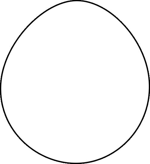 Black and White Easter Egg