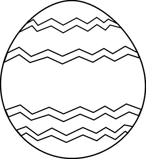 Black and White Zig Zag Easter Egg