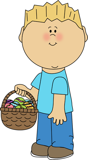 Boy with an Easter Basket
