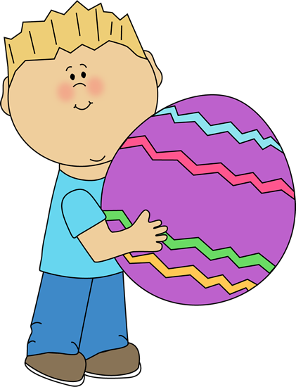 Boy with a Big Easter Egg