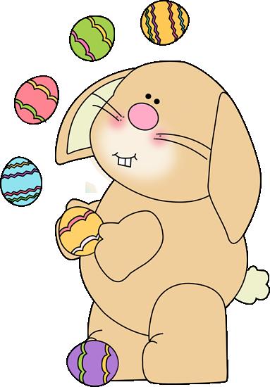 Bunny Juggling Easter Eggs