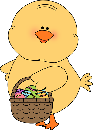Chick Carrying Easter Basket
