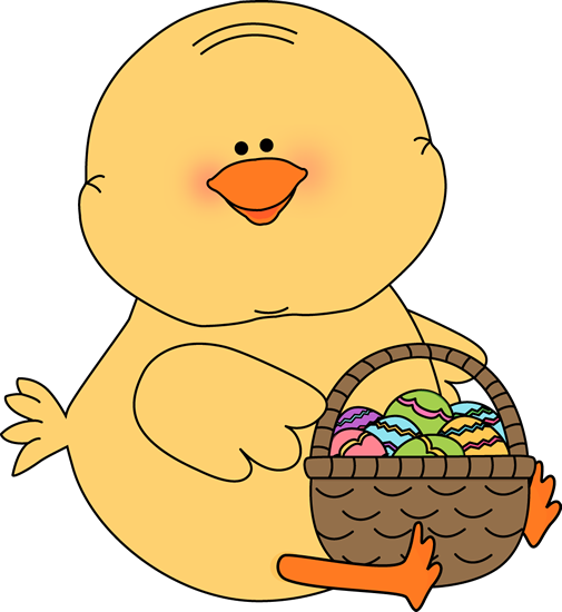 Chick With An Easter Basket