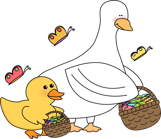 Easter Ducks with Easter Baskets