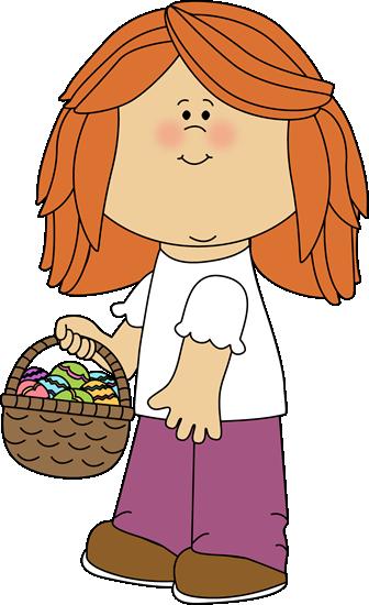 Girl Holding an Easter Basket