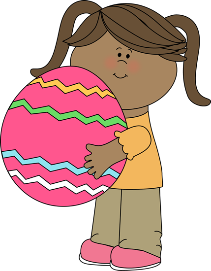 Girl with a Big Easter Egg