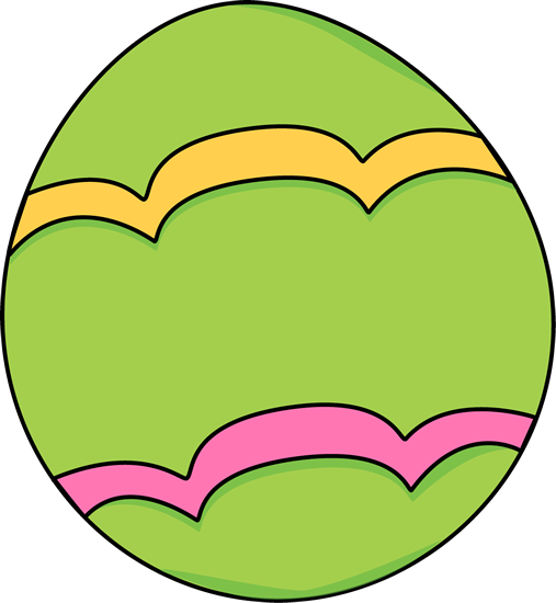 Green Decorated Easter Egg Clip Art - Green Decorated ...