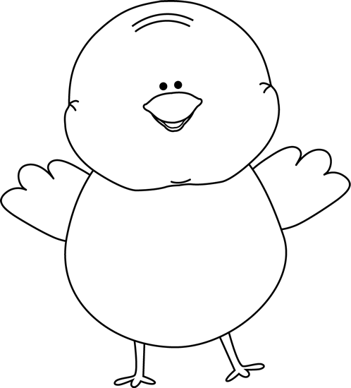 Easter Chick Clip Art Black And White Black and white happy easter