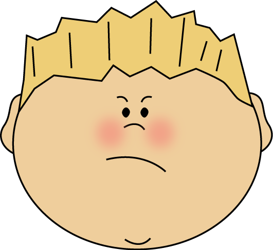 angry kid face clip art - photo #7