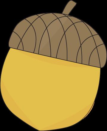 Yellow Acorn Clip Art