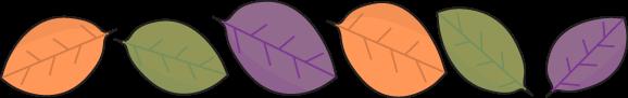 Autumn Leaf Divider Clip Art