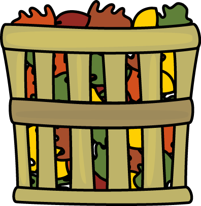 Basket of Leaves Clip Art