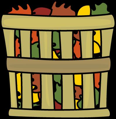 Basket of Leaves Clip Art