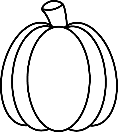 Black and White Autumn Pumpkin