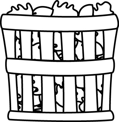 Black and White Basket of Leaves