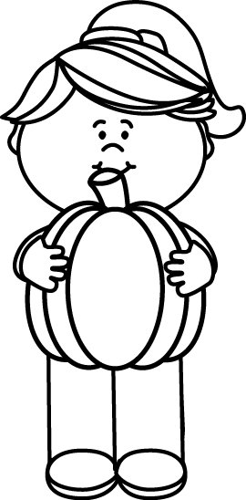 black and white girl holding a pumpkin clip art black and white rh mycutegraphics com cute pumpkin clipart black and white halloween pumpkin clipart black and white