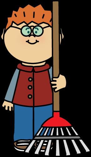boy with a rake clip art boy with a rake image getting dressed clipart boy getting dressed clipart