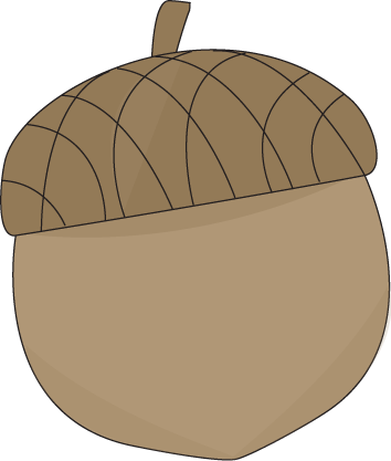 Brown Acorn Clip Art