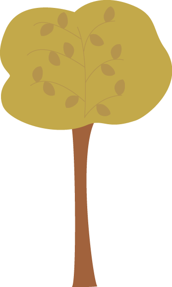 Brown Autumn Tree Clip Art