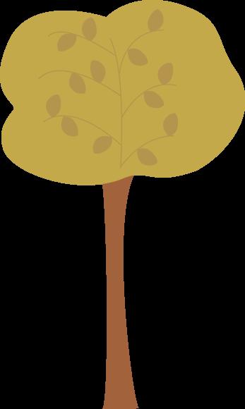Brown Autumn Tree Clip Art