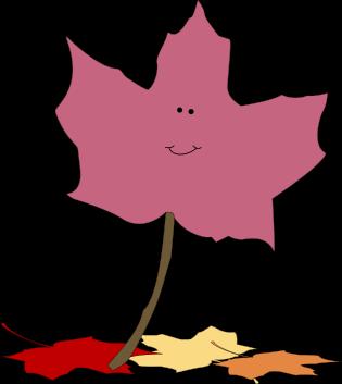 cute fall leaf clipart