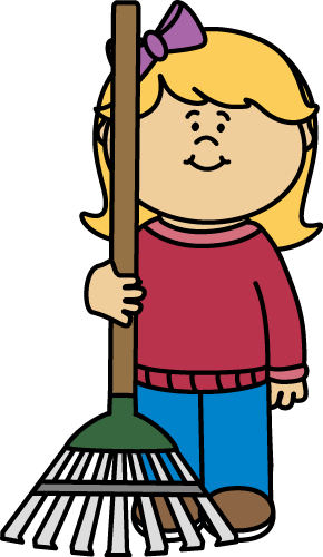Girl with a Rake