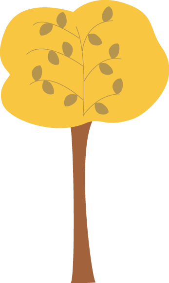Golden Autumn Tree Clip Art - Golden Autumn Tree Image