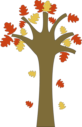Leaves Falling from Tree Clip Art - Leaves Falling from ...