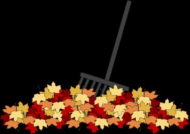 Leaves And Rake Clip Art Leaves And Rake Image