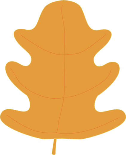 Orange Oak Fall Leaf