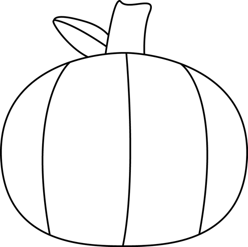 Black and White Plain Pumpkin