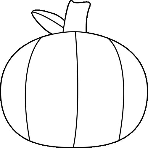 Black and White Plain Pumpkin