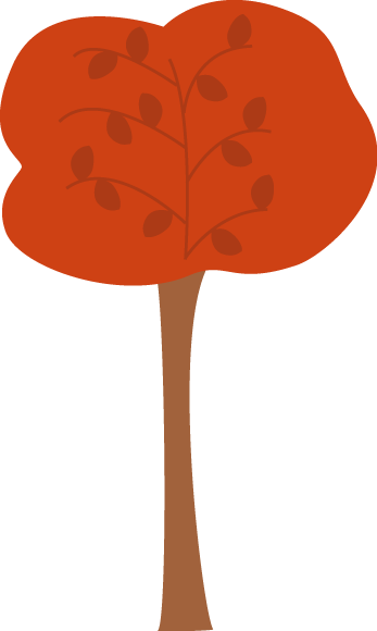 Pretty Maroon Autumn Tree