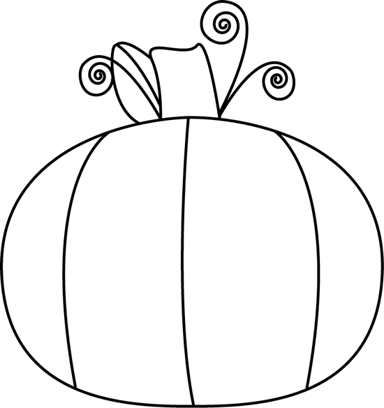 Black and White Pumpkin Clip Art - Black and White Pumpkin ...