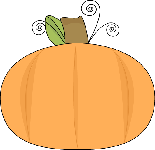 Pumpkin on a Swirly Vine