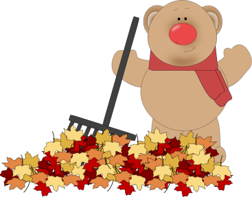 Bear Raking Leaves