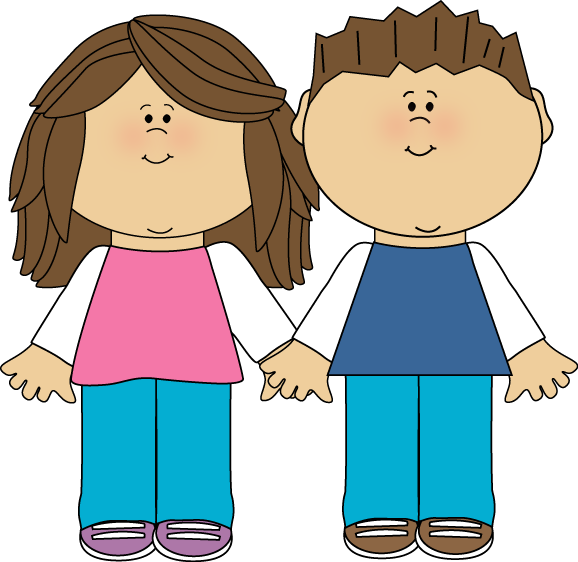 brother and sister clip art image