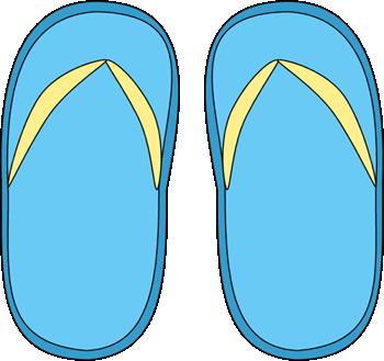 Blue Flip Flops Clip Art