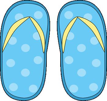 Blue Polka Dot Flip Flops