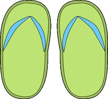 Green Flip Flops Clip Art