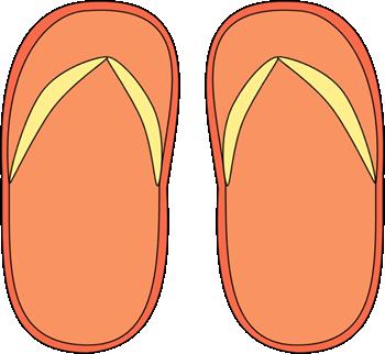 Orange Flip Flops Clip Art