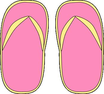 Pink Flip Flops Clip Art
