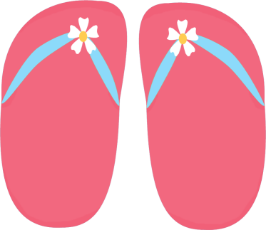 Pink Floral Flip Flops Clip Art